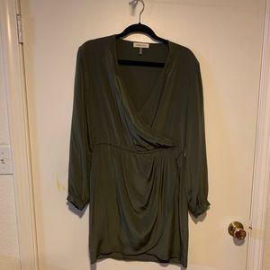 Amour Vert olive green long sleeve dress